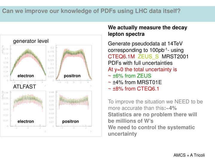 Can we improve our knowledge of PDFs using LHC data itself?