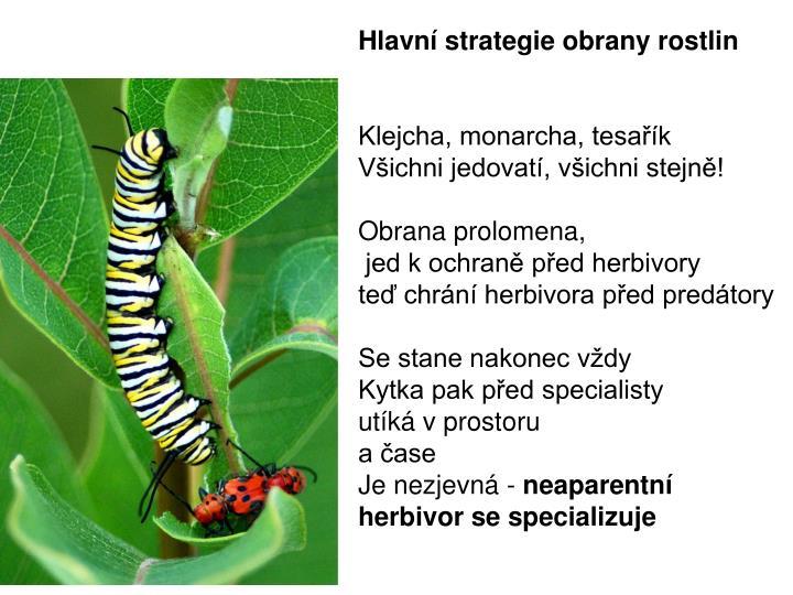 Hlavní strategie obrany rostlin