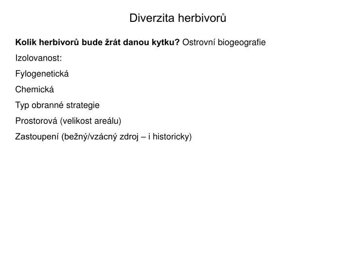 Diverzita herbivorů