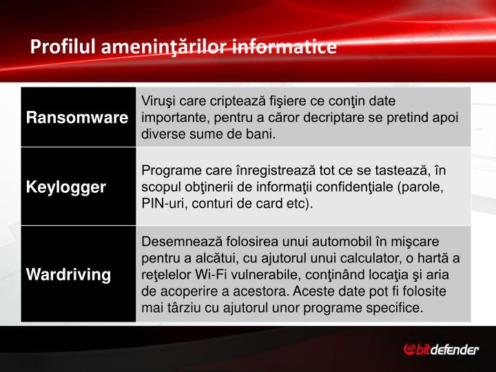 Profilul ameninţărilor informatice