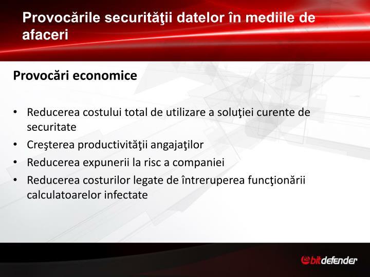 Provocările securităţii datelor în mediile de afaceri