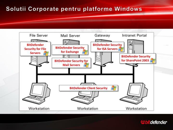 Solutii Corporate pentru platforme Windows