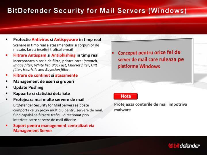 BitDefender Security for Mail Servers (Windows)
