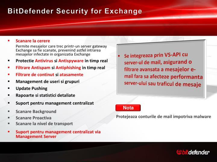 BitDefender Security for Exchange