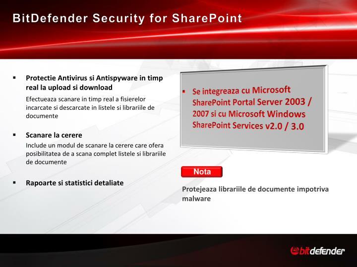 BitDefender Security for SharePoint