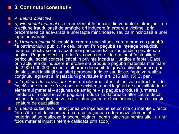 3. Coninutul constitutiv