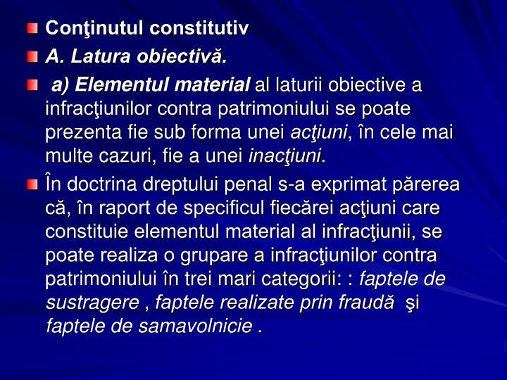 Coninutul constitutiv
