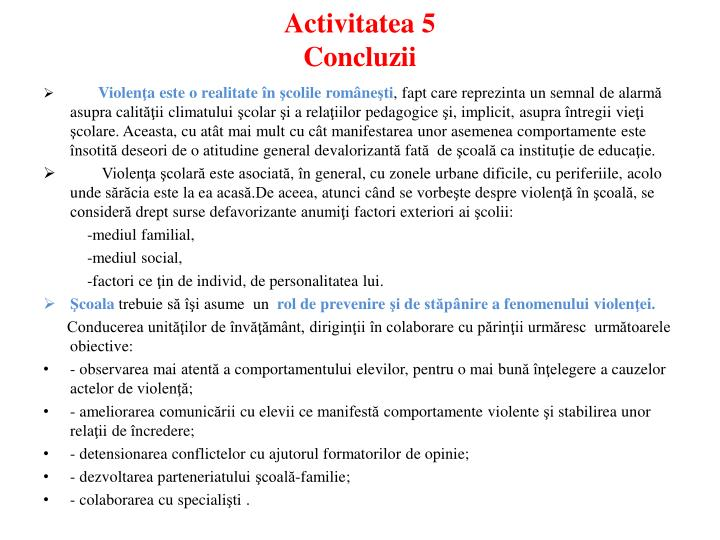 Activitatea 5