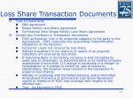 loss share transaction documents