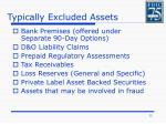 typically excluded assets