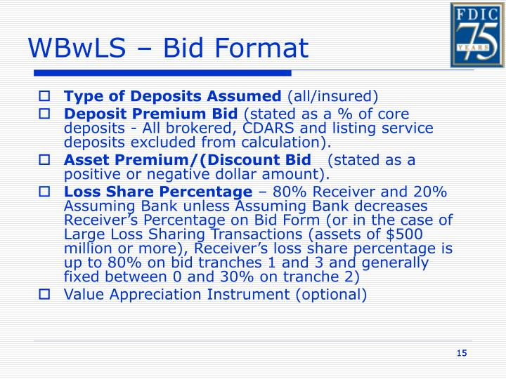 WBwLS – Bid Format