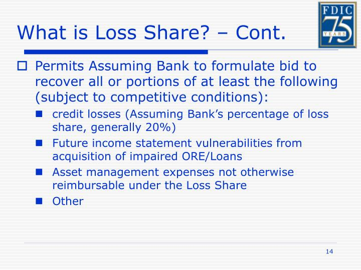 What is Loss Share? – Cont.