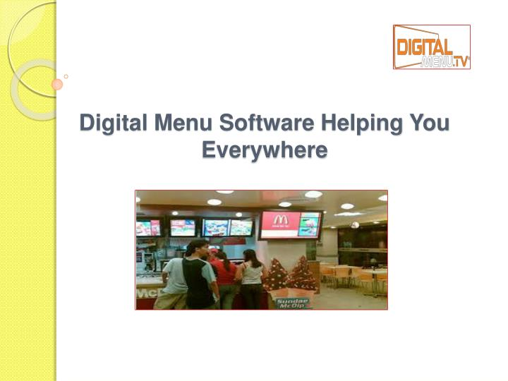 Digital menu software helping you everywhere