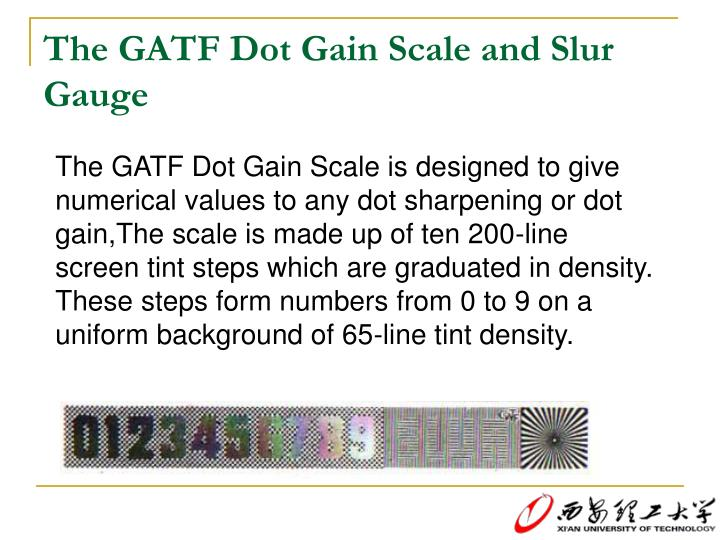 The GATF Dot Gain Scale and Slur Gauge