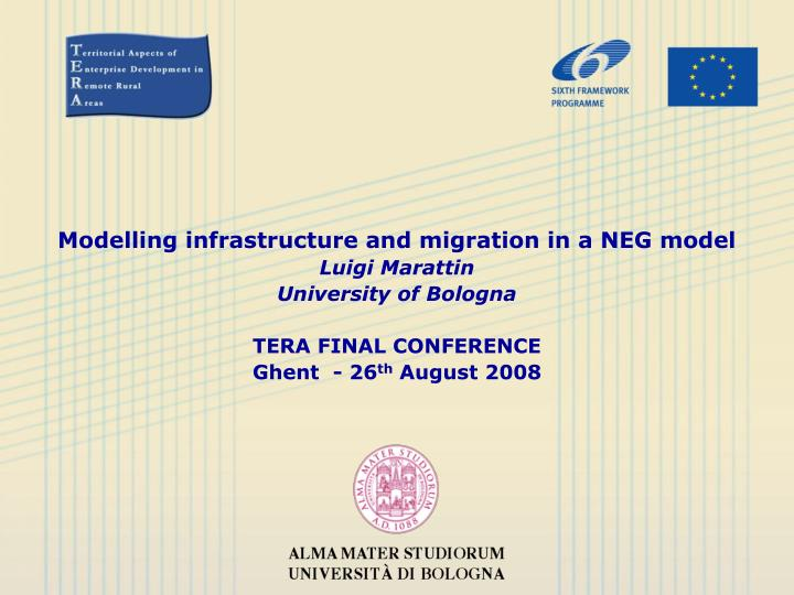 Modelling infrastructure and migration in a NEG model