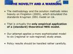 the novelty and a warning