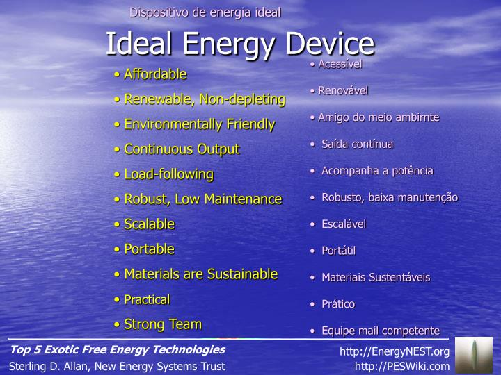 Dispositivo de energia ideal