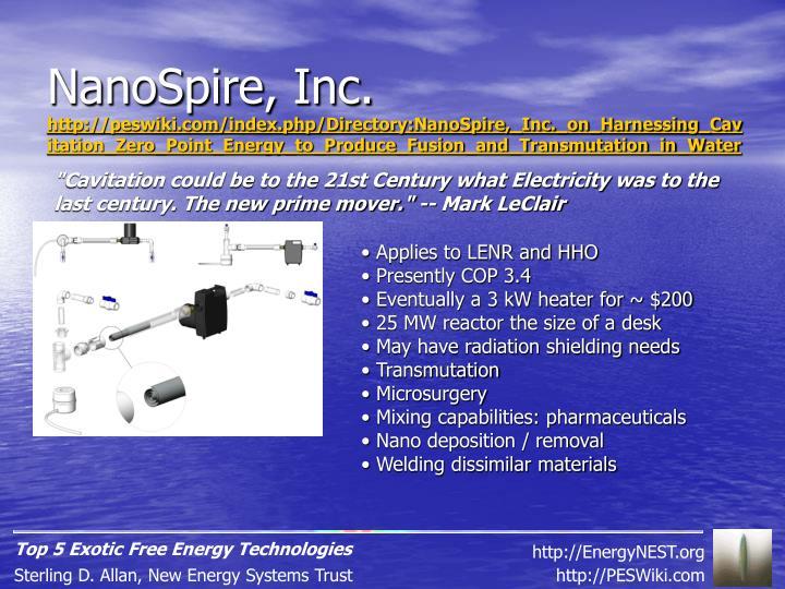 NanoSpire, Inc.