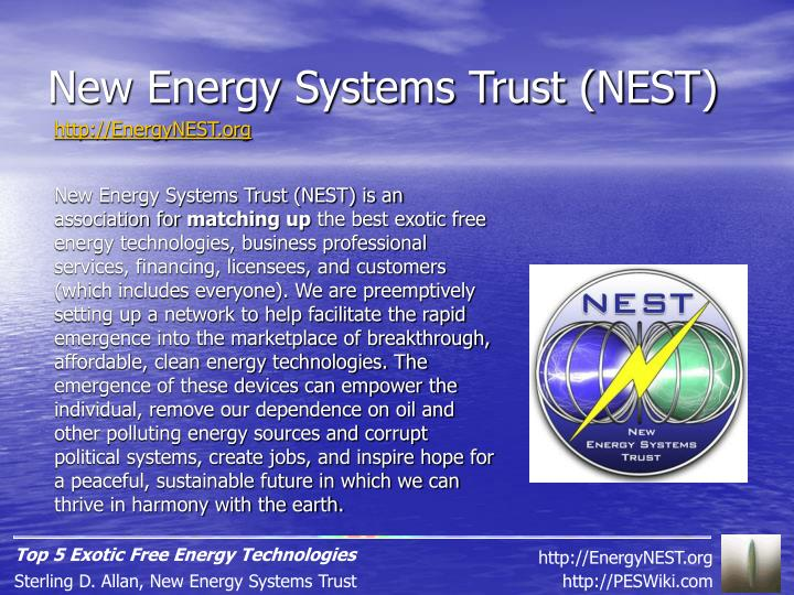 New Energy Systems Trust (NEST)