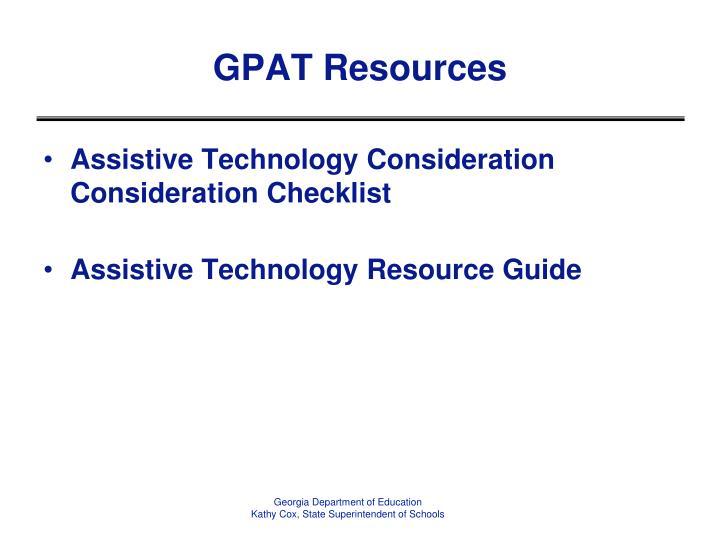 GPAT Resources
