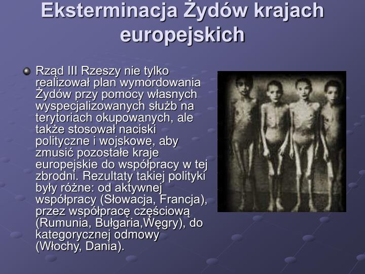 Eksterminacja Żydów krajach europejskich