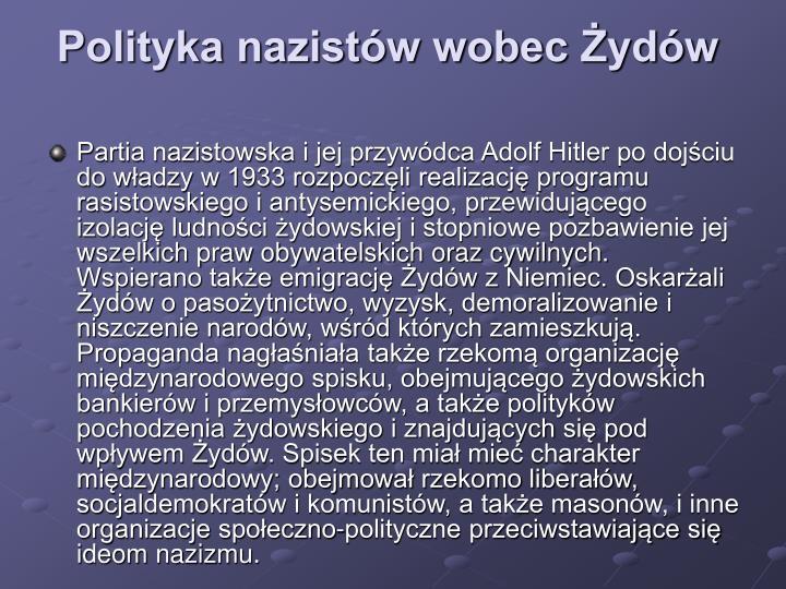 Polityka nazistów wobec Żydów