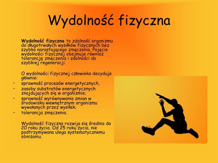 Wydolność fizyczna
