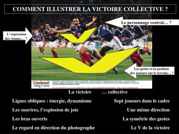 COMMENT ILLUSTRER LA VICTOIRE COLLECTIVE ?