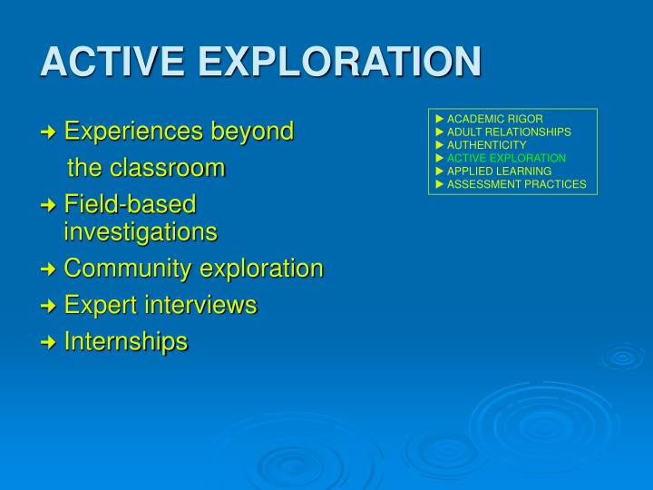 ACTIVE EXPLORATION