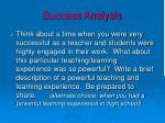 success analysis