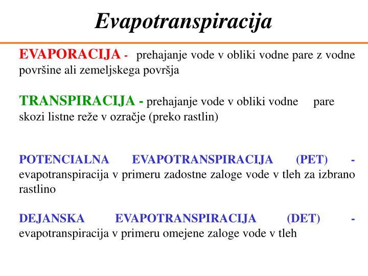 Evapotranspiracija