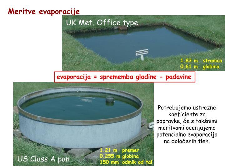 Meritve evaporacije