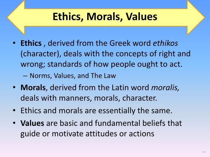 Ethics, Morals, Values