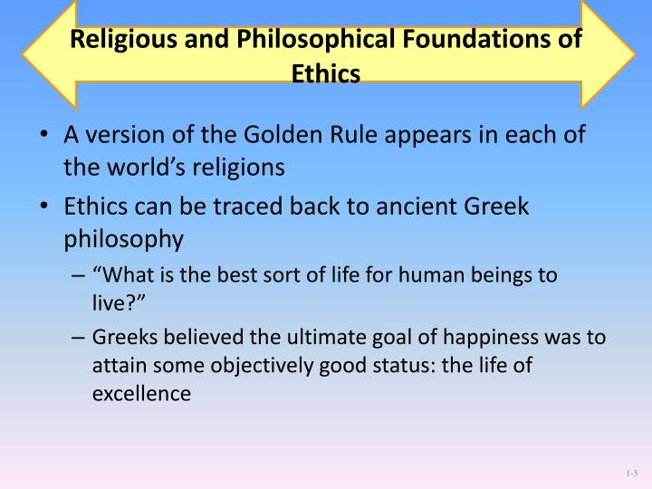 Religious and Philosophical Foundations of Ethics