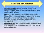 six pillars of character1