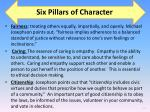 six pillars of character2