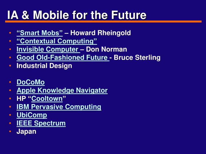 IA & Mobile for the Future