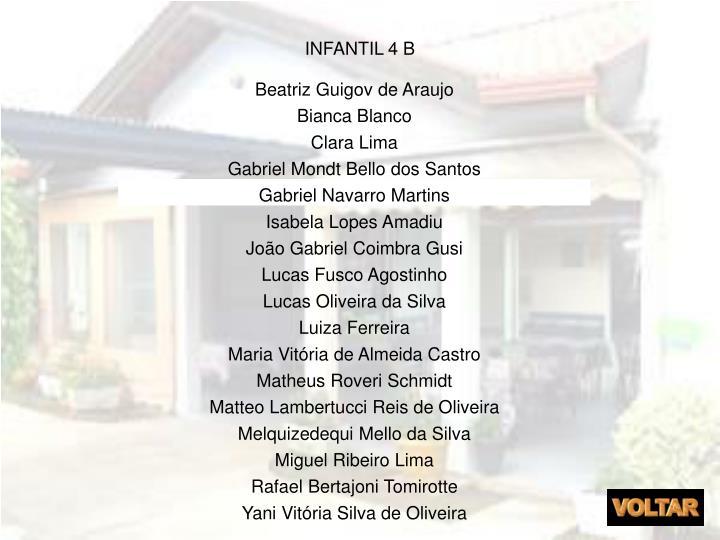 INFANTIL 4 B