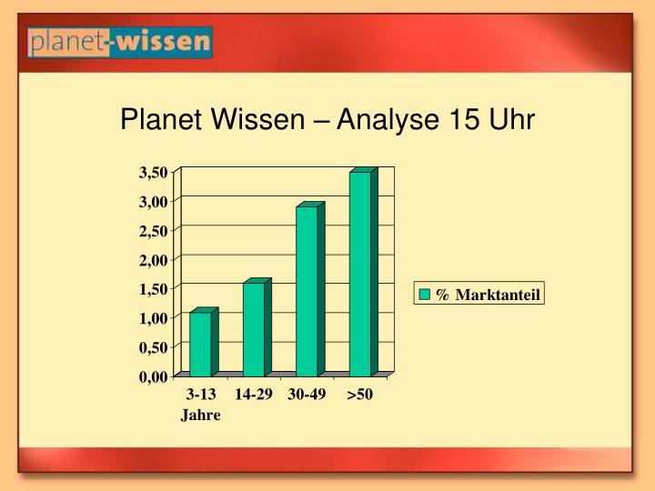 Planet Wissen – Analyse 15 Uhr