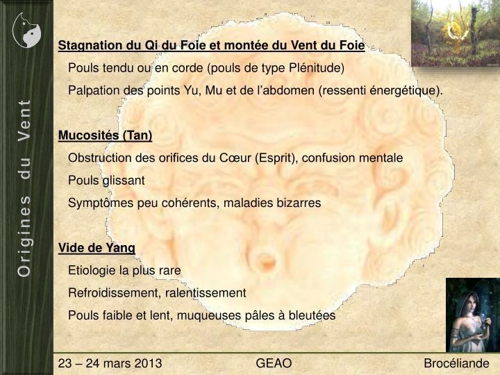 Stagnation du Qi du Foie et montée du Vent du Foie