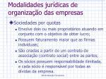 modalidades jur dicas de organiza o das empresas1