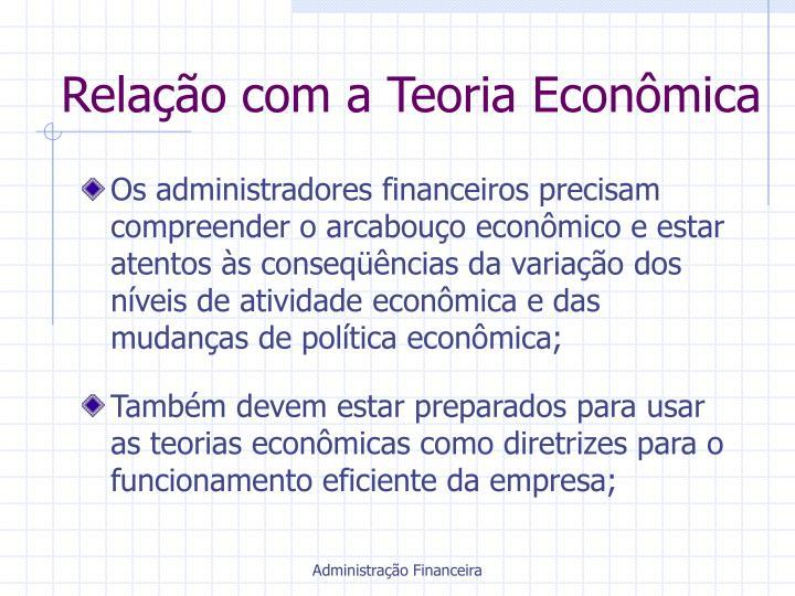 Relação com a Teoria Econômica