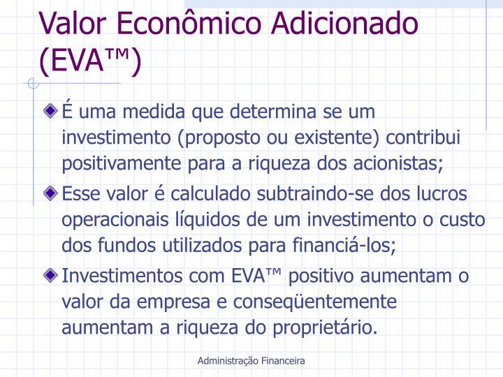 Valor Econômico Adicionado (EVA