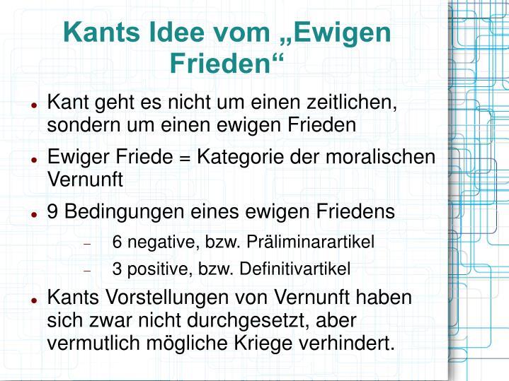 """Kants Idee vom """"Ewigen Frieden"""""""