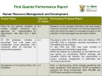 first quarter performance report3