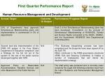 first quarter performance report4
