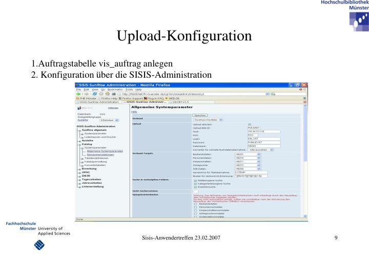 Upload-Konfiguration