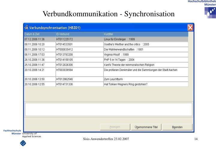 Verbundkommunikation - Synchronisation