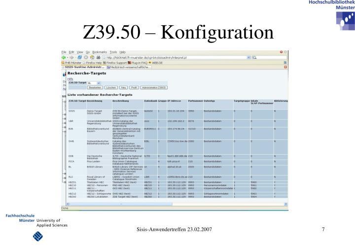 Z39.50 – Konfiguration