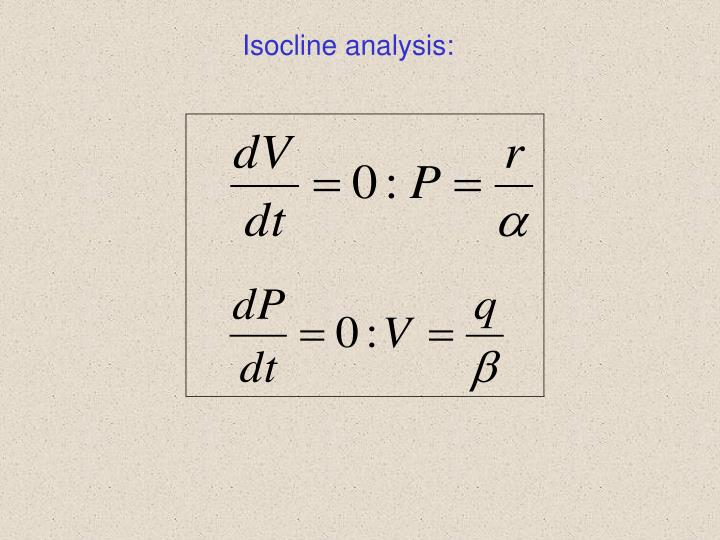 Isocline analysis: